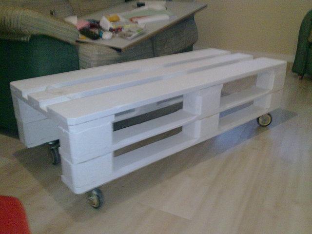 Bases de madera para grandes maquinas - Mesa centro palet ...