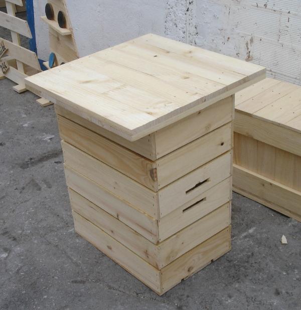 Embalajes de madera for Mesa con cajas de fruta