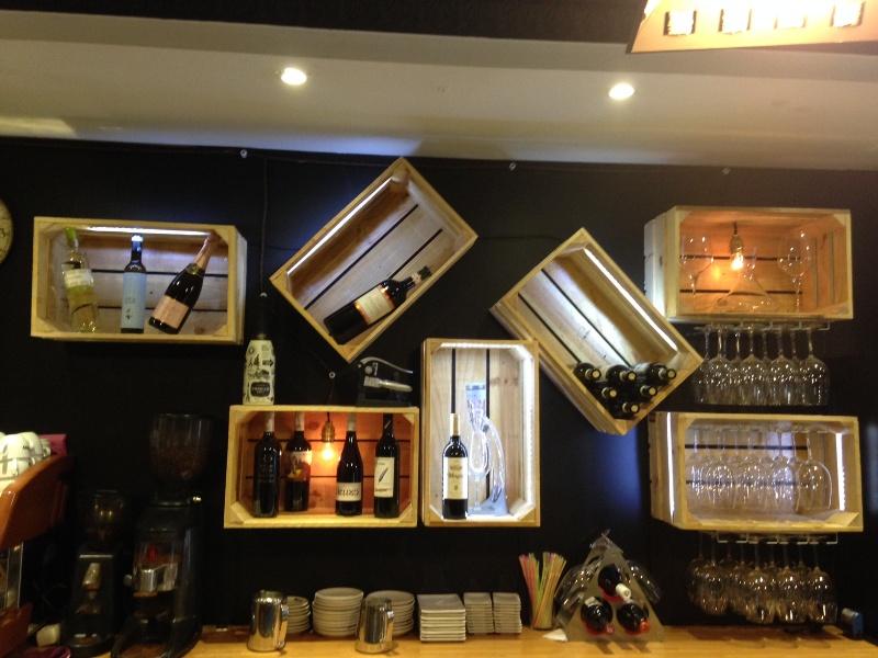 Embalajes de madera - Estanterias para bares ...