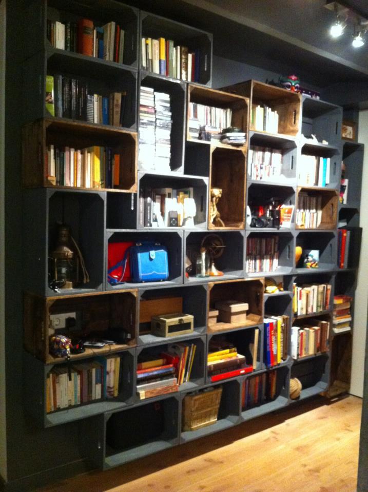 Embalajes de madera - Libreria de pared ...