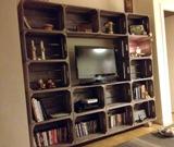 cajas fruta television - Muebles Con Cajas De Fruta