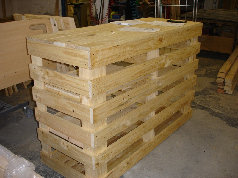 Muebles de palets de madera idea creativa della casa e for Muebles hechos con paletas de madera